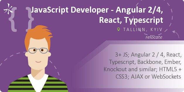 JavaScript Developer - Angular 2/4, React, Typescript